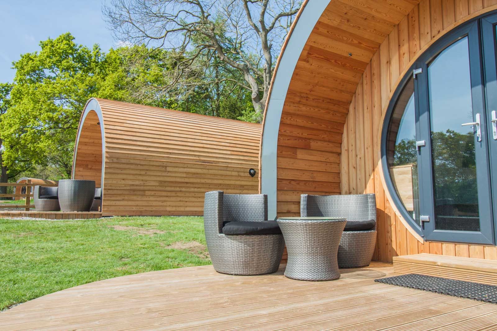 Glamping Pods at High Oaks Grange